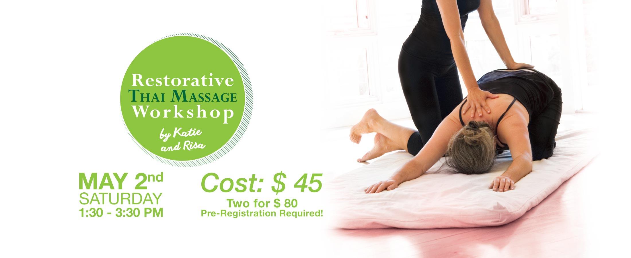 thai massage workshop hot yoga markham
