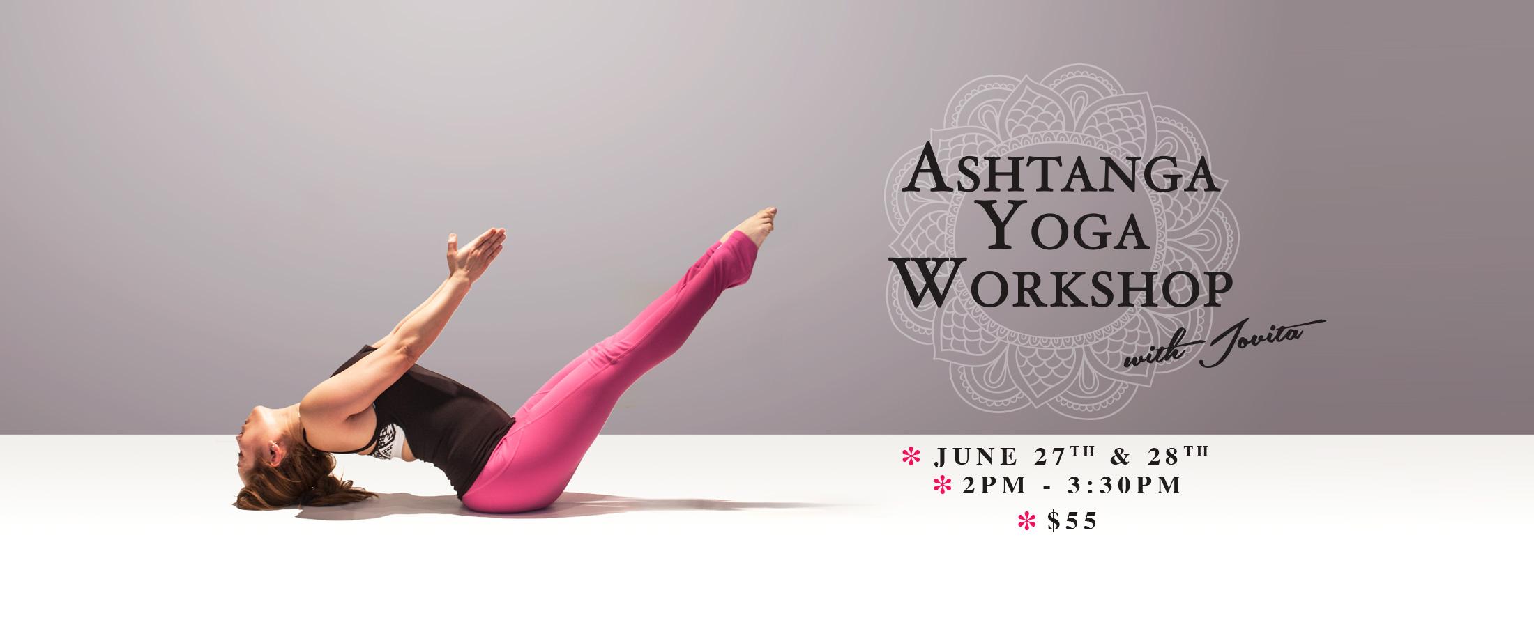 ashtanga workshop hot yoga markham jovita